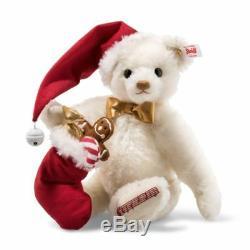 006562 Steiff Sweet Santa Musical Teddy Bear Mohair 27 cm Limited Edition