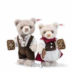 006647 Hansel and Gretel Teddy Bears Steiff Limited Edition Mohair Bears