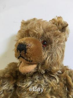 11 BEIGE MOHAIR GERMAN 1950's GEBRUDER HERMANN HORST TEDDY BEAR