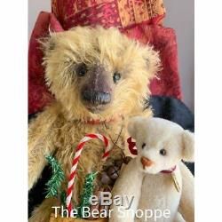 13 Mohair Artist Teddy Bear Hampton's Christmas by Lori Baker Crazy Sale $$