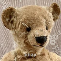 14 Antique 1908 Bing Teddy Bear, Loved Treasure In Finely Made Military Jacket