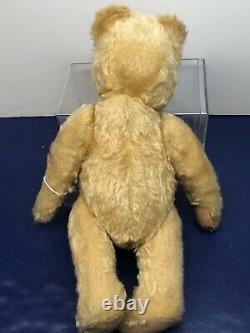 14 Vintage Steiff Teddy Bear Golden Yellow Mohair 1950s Jointed Teddy #U