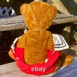 15 Antique Mohair Teddy Bear In Sailor Outfit With Good Teddy Conduct Medal
