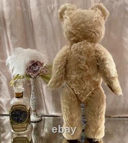 16 VINTAGE 1960s BRITISH TEDDY BEAR TWYFORD/FARNELL RADIANT BLONDE WAVY MOHAIR