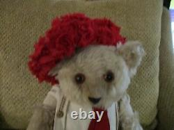 18 Antique Fully Jointed Mohair Musical Teddy Bear