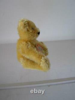 1950 Steiff Golden Mohair Original Teddy Bear Miniature jointed Chest TAG