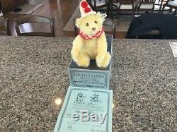 1986 Steiff Teddy-Clown Teddy Bear Mohair 13 Style #0170/32 tags/box