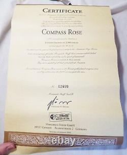 1995 LARGE 17 STEIFF COMPASS ROSE LE US Edition TEDDY BEAR with Box & COA