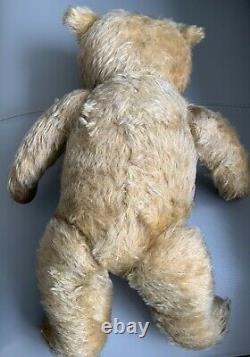 20 Inch Vintage Golden mohair Jointed Teddy Bear. 1950s