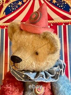 20 Ooak 2021 Gorgeous, Large Harlequin Teddy Bear Clown By Beardsley Bears