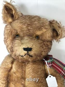 20 Vintage Antique English Teddy Bear Velvet Pads Mohair 1930s Jointed #U