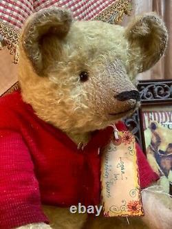 21 Ooak Teddy Bear'logan' New 1914 Series By Deb Beardsley/beardsley Bears
