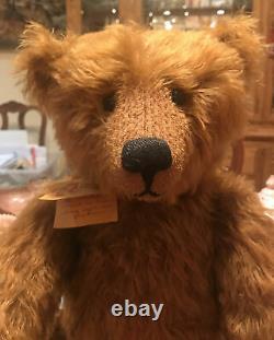 22 Mohair Artist Teddy Bear'Fletcher' by Kathleen Wallace of Stier Bears