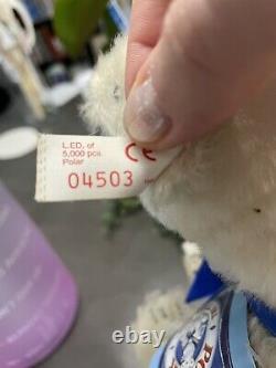 7 Steiff Teddy Bear Mohair Polar The Titanic Bear Limited 5000 Tag #670299