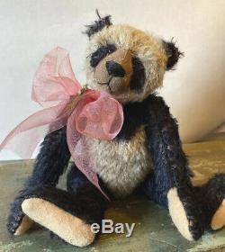 9 Teddy Bear PANDA MOHAIR by Frances Harper Apple of my Eye Artist Signed Bear