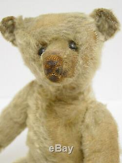 ANTIQUE GOLD MOHAIR 12 INCH STEIFF TEDDY BEAR With PERSONALITY CIRCA 1909
