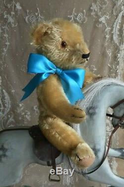 ANTIQUE VINTAGE CHAD VALLEY MAGNA SERIES JOINTED MOHAIR TEDDY BEAR 1930s 15