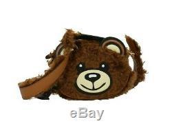 AW18 Moschino Couture Jeremy Scott Smooth Furry Teddy Bear Head Crossbody Bag