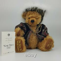 A Limited Edition Brown Mohair Teddy Bear by Hermann special edition of King H