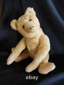 Adorable 1920's Steiff Mohair Teddy Bear with Button