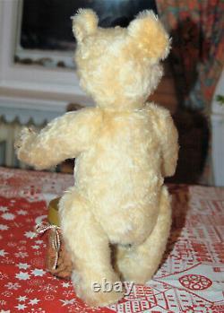 Adorable antique 15 German blond mohair teddy bear w. Growler Steiff