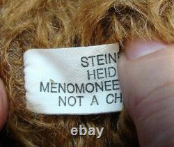 American Artist Heidi Steiner 20Cinnamon Brown Mohair Teddy Bear Tagged