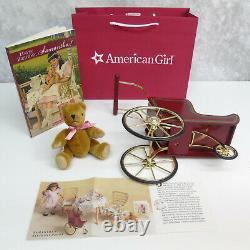 American Girl SAMANTHA'S DOLL PRAM + MOHAIR TEDDY BEAR + BOOK Stroller Carriage