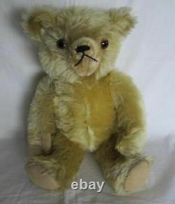 Antique 16 inch Blond Mohair Teddy Bear