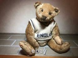 Antique 1907 Steiff Teddy Bear 32cm Doll Light Cinnamon Mohair Very Rare