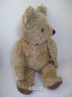 Antique 1920s Jointed Mohair Teddy Bear 17 inches Exc
