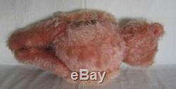 Antique 20 inch Pink Mohair Teddy Bear