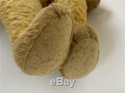 Antique 21 Edwardian Early Mohair Jointed Humpback Teddy Bear -Chiltern/Steiff