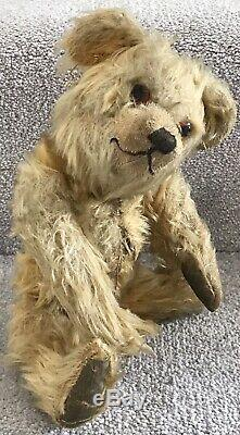 Antique Alpha Farnell Golden Mohair Jointed Teddy Bear C. 1940s British