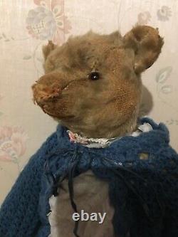 Antique Blonde Mohair Teddy Bear Circa 1910-20 Steiff
