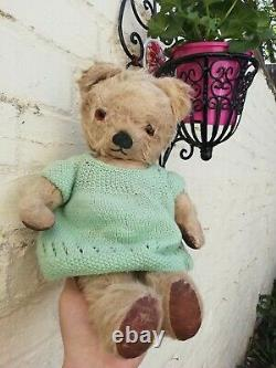 Antique Chad Valley Mohair Sweet Bella Jointed Teddy Bear English