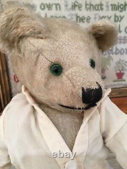 Antique Chiltern Teddy Bear Mohair 1920s 15 Inches