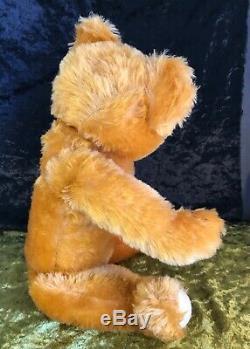 Antique Collectable Merrythought Gold Mohair All Original Teddy Bear 21 C1950