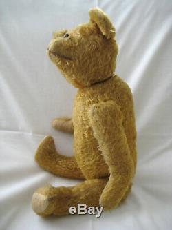 Antique Early 1900s Humpback Jointed Mohair Teddy Bear 18