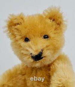 Antique Early Small Miniature Blonde Jointed Mohair Teddy Bear 3.5
