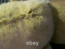Antique Early TEDDY BEARLarge 22 Golden Mohair Humpback JointedStraw Filled