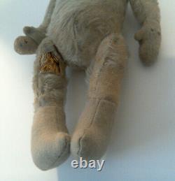 Antique German 14 Celluloid Face Mohair Stuffed Body Teddy Bear Snow Baby Doll