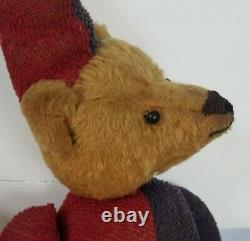 Antique German Strunz Mohair Teddy Bear Clown Jesters Suit Jointed