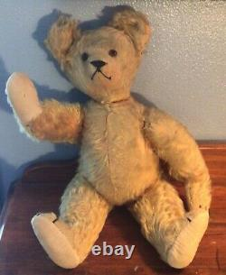 Antique Golden Mohair Fully Jointed Teddy Bear