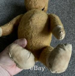 Antique Jointed Mohair SCHUCO YES/NO GERMAN TEDDY BEAR Well Loved Vintage NR