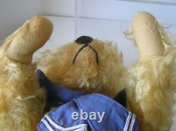 Antique Josef Pitrmann Jopi Musical German 1920's Frosted Mohair Teddy Bear 20