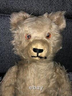 Antique Large Rare 1900s Early German TEDDY BEAR Jointed Body Mohair 17 Schuco