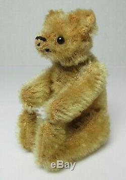 Antique MINIATURE STEIFF MOHAIR TEDDY BEAR 3 1/2 tall JOINTED
