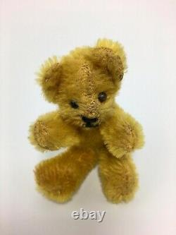 Antique Miniature Steiff Mohair Teddy Bear 3 Wire Jointed All Original Cond