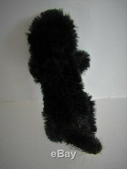 Antique Mohair Farnell Soldier Teddy Bear Black Cat With Tail