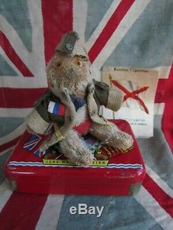 Antique Mohair Farnell Ww1 Soldier Teddy Bear Campbell